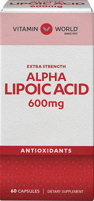 Vitamin World Alpha Lipoic Acid 600 mg. 60 Capsules