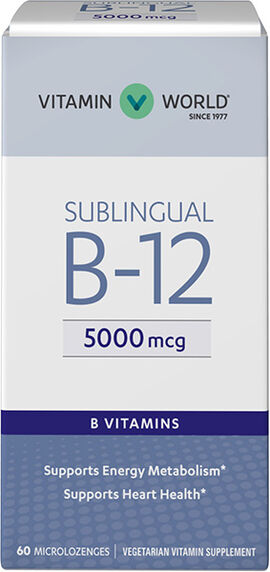 Vitamin B-12 5000 mcg. Sublingual