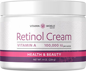 Vitamin World Retinol Cream 100,000 IU 8 oz. Cream 100000IU
