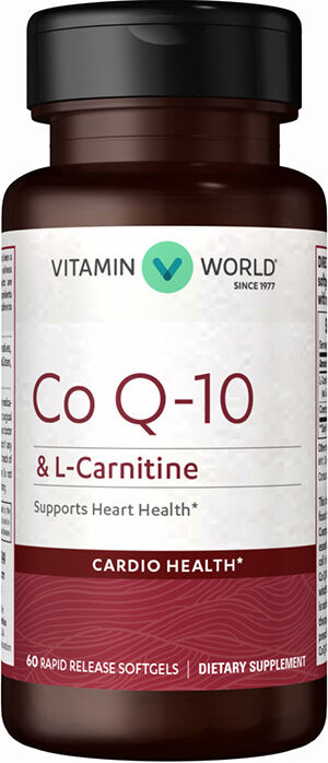 Vitamin World Q-Sorb Co Q-10 & L-Carnitine 60 Softgels