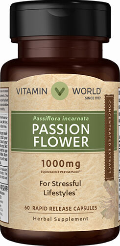 Vitamin World Passion Flower 1000 mg. 60 Capsules