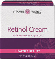 Vitamin World Retinol Cream With Moroccan Argan Oil 2 oz. Liquid
