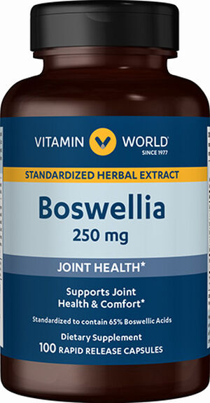 Vitamin World Boswellia 250 mg. 100 Capsules