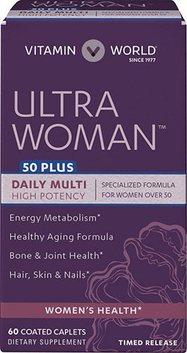 Vitamin World Ultra Woman™ 50 Plus Daily Multivitamins 60 Caplets