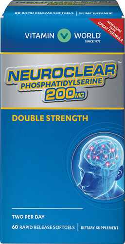 Vitamin World Double Strength NeuroClear Phosphatidylserine 200 mg.