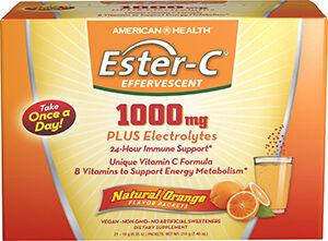 Ester-C® 1000 mg Effervescent Powder Packets Orange