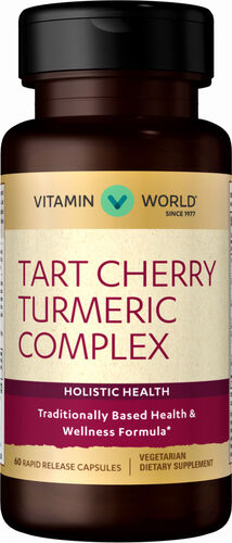 Vitamin World Cherry Turmeric Complex 60 Capsules