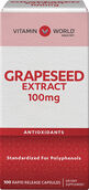 Vitamin World Grapeseed Extract 100 mg. 100 Capsules