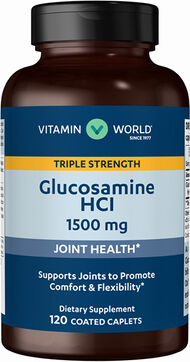 Vitamin World Glucosamine HCL 1500 mg. 120 Caplets