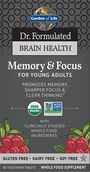Garden of Life Dr. Formulated Brain Health Memory & Focus for Young Adults