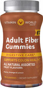 Vitamin World Adult Fiber Gummies with Vitamin D 75 Gummies Fruit