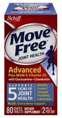 Schiff Move Free Advanced plus MSM and Vitamin D3 80 Tablets
