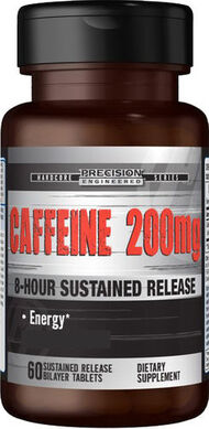 Precision Engineered® Timed Release Caffeine 200 mg. 60 Tablets 200mg.