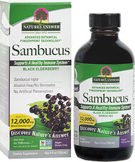 Nature's Answer Sambucus Black Elderberry 4 oz. Liquid