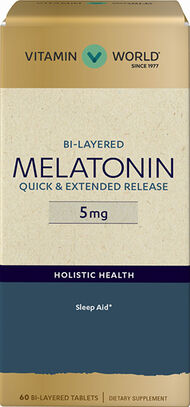 Vitamin World Bi-Layered Melatonin 5mg. 60 Tablets
