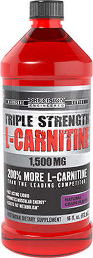 Precision Engineered® Triple Strength L-Carnitine 1500 mg Grape 16 oz. Liquid 1500mg.