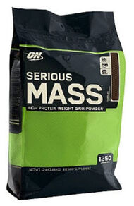 Optimum Nutrition Serious Mass Chocolate 12 lbs. 12 lbs. Powder