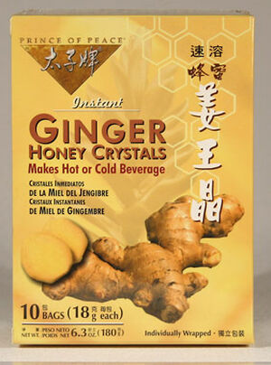 Prince of Peace Ginger Honey Crystals 10 Bags