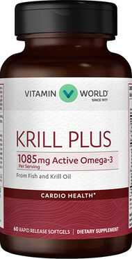 Vitamin World Krill Plus 500 mg. 60 Softgels