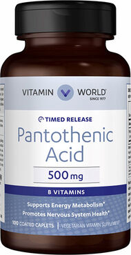 Vitamin World Pantothenic Acid 500mg Vitamin B-5
