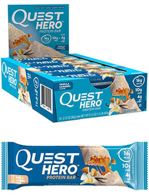 Quest Nutrition Quest Hero Protein Bars Vanilla Caramel 10 Bars