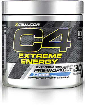 Cellucor C4® Extreme Energy Preworkout 9.52 oz. Icy Blue Razz 9.52 oz. Powder