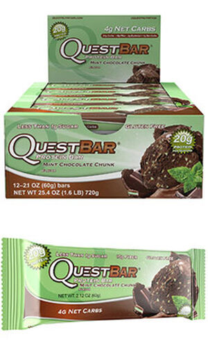 Quest Nutrition Quest Bars Mint Chocolate Chunk 12 Bars