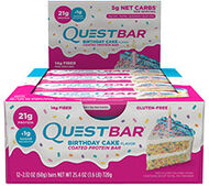 Quest Protein Bars Birthday Cake Box of 12