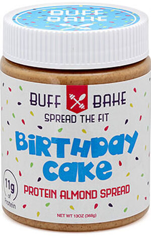 Buff Bake Birthday Cake Almond Butter 13 Oz Cream