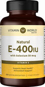Vitamin World Vitamin E 400 IU with Selenium 250 Softgels