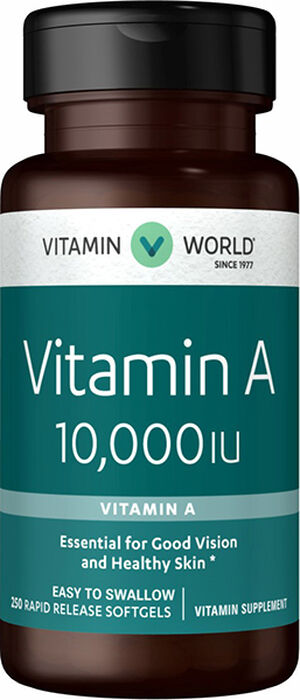 Vitamin World Vitamin A 10000 IU 250 Softgels