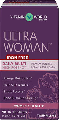 Vitamin World Ultra Woman™ Daily Multivitamins Iron Free 90 Capsules