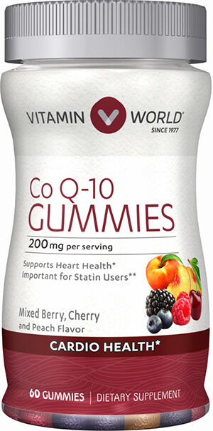 Vitamin World Q-Sorb Co Q-10 Gummies 60 Gummies Peach Mango
