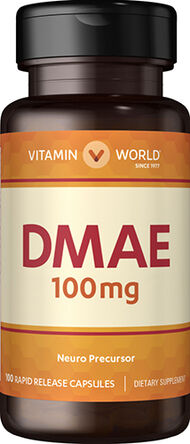 Vitamin World DMAE 100 mg. 100 Capsules