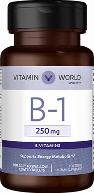 Vitamin World Vitamin B-1 250 mg. 100 Tablets