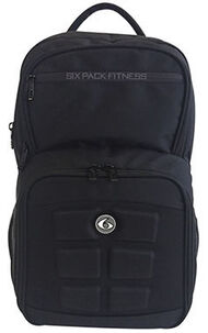 6 Pack Fitness Expedition Backpack 300 Stealth Meal Prep Bag 1 Unit Black