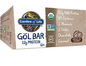 Garden Of Life Organic GOL Protein Bars Chocolate Coconut 12 Bars