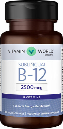 Vitamin World Sublingual B-12 2500mcg Vitamins
