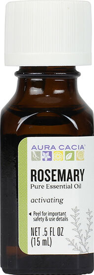 Aura Cacia Rosemary Essential Oil 0.5 oz. Liquid