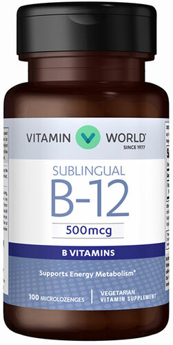 Vitamin World Vitamin B-12 500 mcg. Sublingual 100 Lozenges