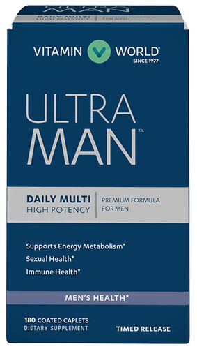 Vitamin World Ultra Man™ Daily Men's Multivitamins 180 Caplets