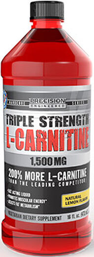 Precision Engineered® Triple Strength L-Carnitine 1500 mg Lemon 16 oz. Liquid 1500mg.