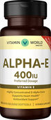 Vitamin World Alpha-E 400 IU 100 softgels