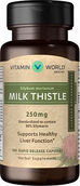 Vitamin World Milk Thistle (Silymarin) Standardized Extract 250 mg. 100 Capsules
