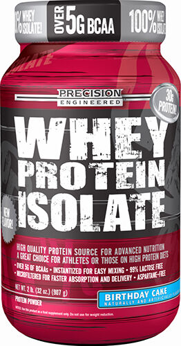 Precision Engineered® Whey Protein Isolate Birthday Cake 2 lbs. 2 lbs. Powder