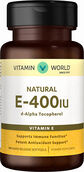 Vitamin World Natural Vitamin E 400 IU 100 Softgels