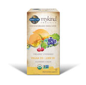 Garden Of Life myKind Organics Vegan Vitamin D3 2000 IU 30 Tablets Raspberry Lemon
