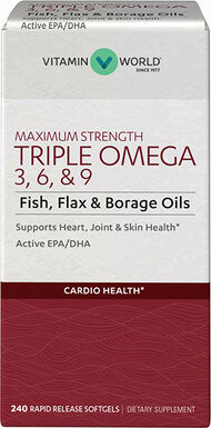 Maximum Strength Triple Omega 3-6-9, 240, hi-res