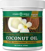 Vitamin World Unrefined Extra Virgin Coconut Oil 16 oz. Liquid Coconut