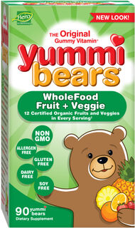 Hero Nutritional Yummi Bears® Wholefood + Antioxidants 90 Gummies Fruit